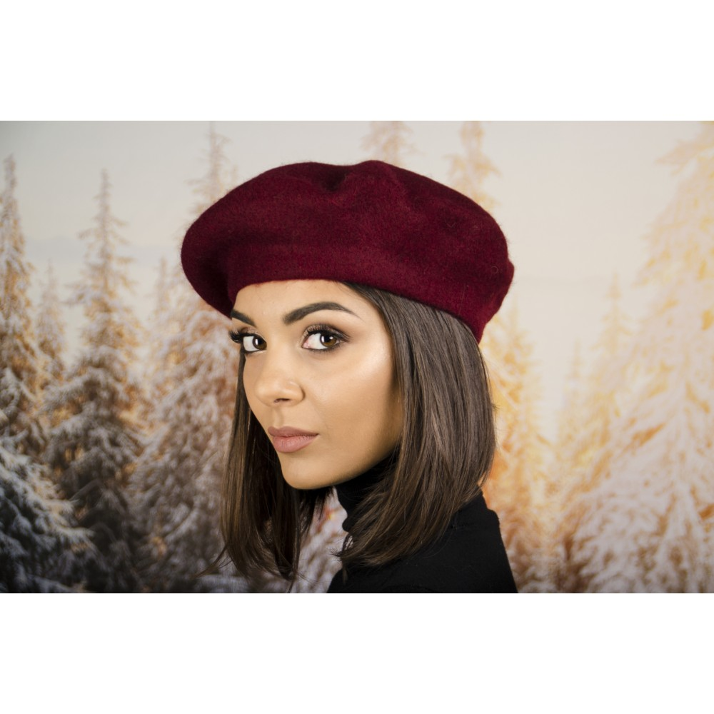 Дамска Зимна Барета Бордо