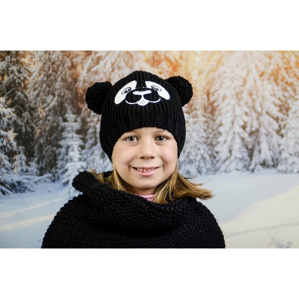 Зимна Шапка за Момичета с Бродерия Панда
