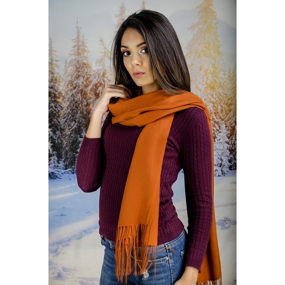 Оранжев Дамски Шал Едноцветен