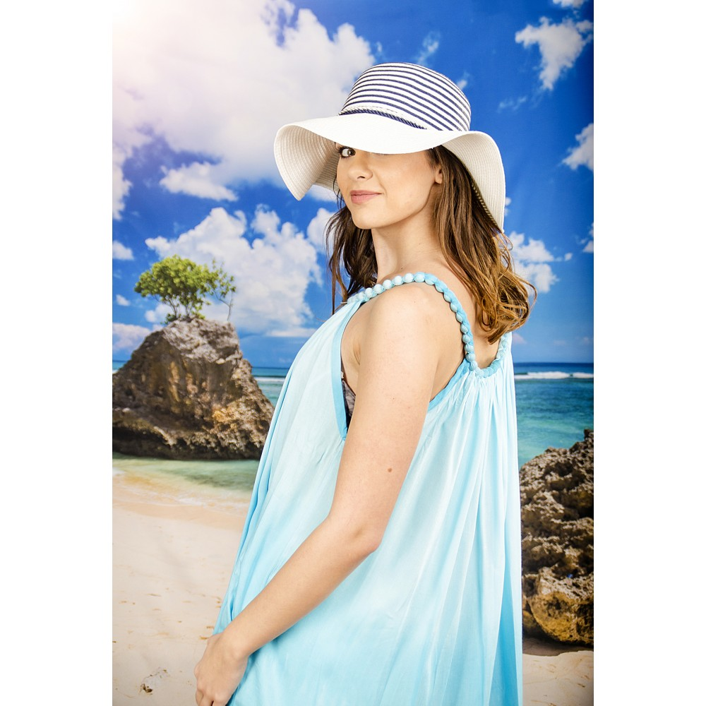 Плажна Рокля в Светло Синьо