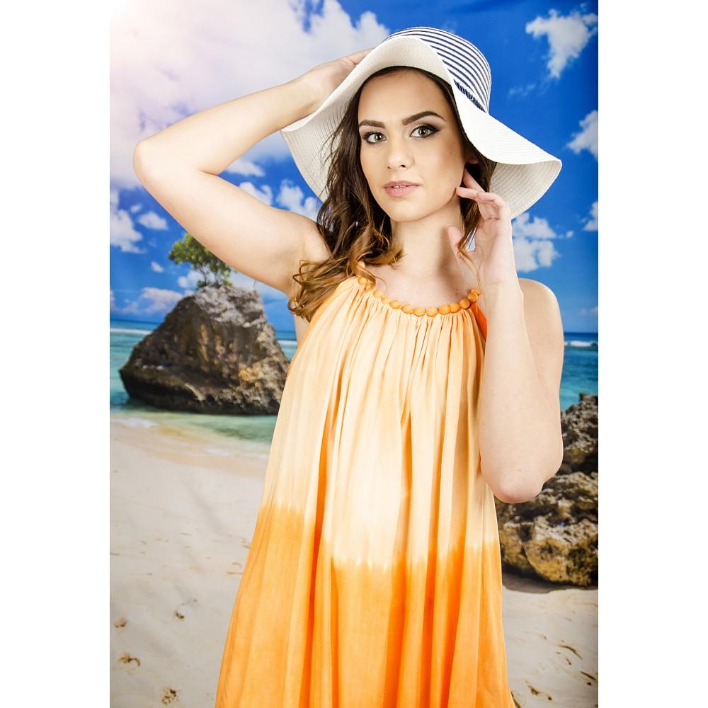 Плажна Рокля в Оранжево