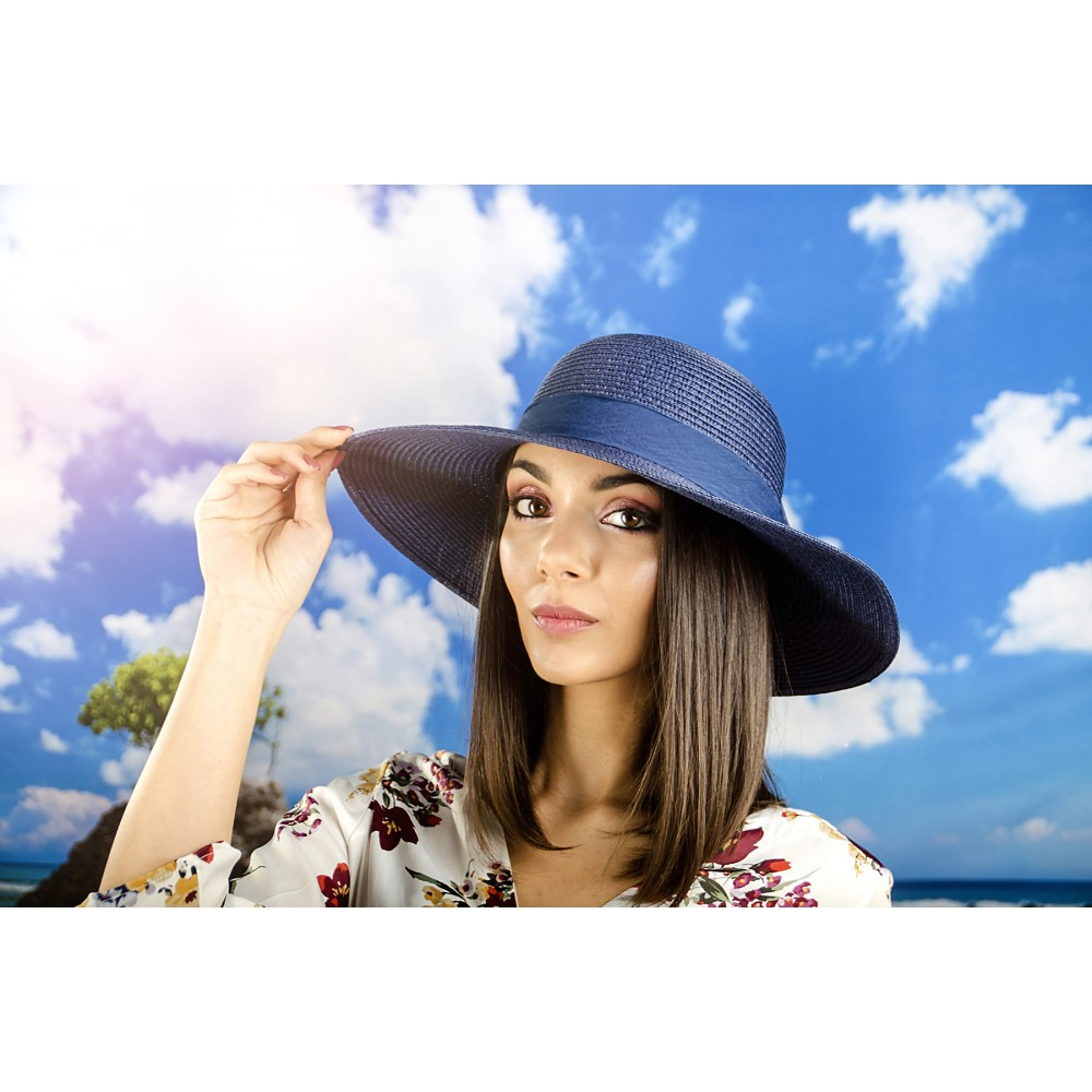 Дамска Капела с Красива Панделка в Синьо