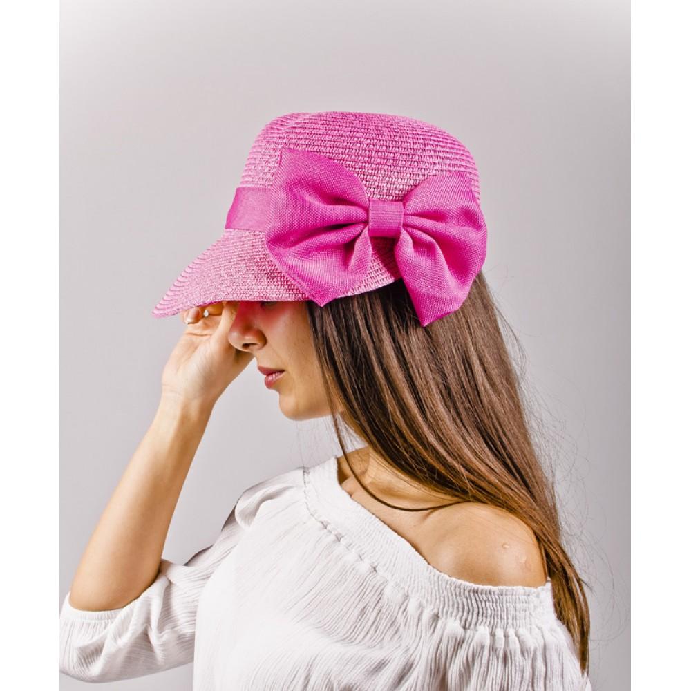 Дамска Тъмно Розова Капела С Асиметрична Периферия