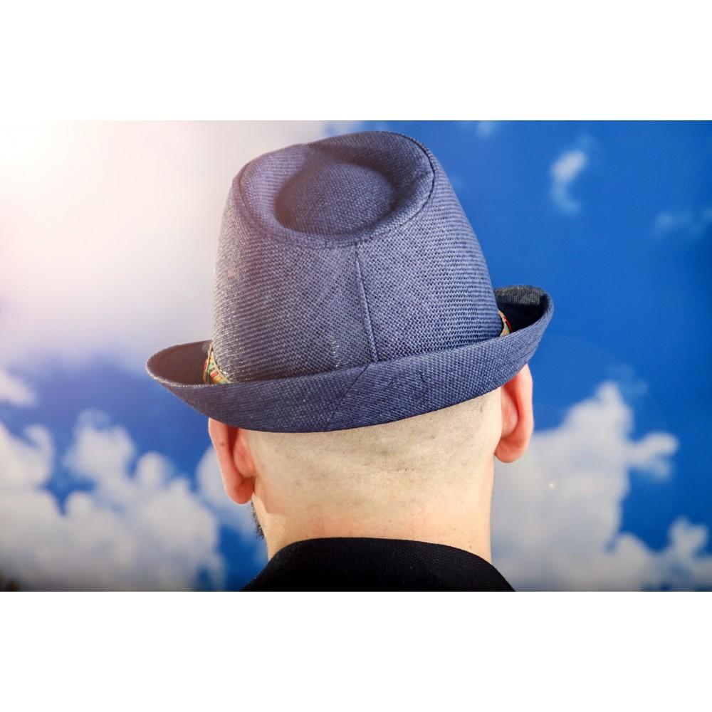 Мъжко Бомбе в Синьо с Шарена Лента