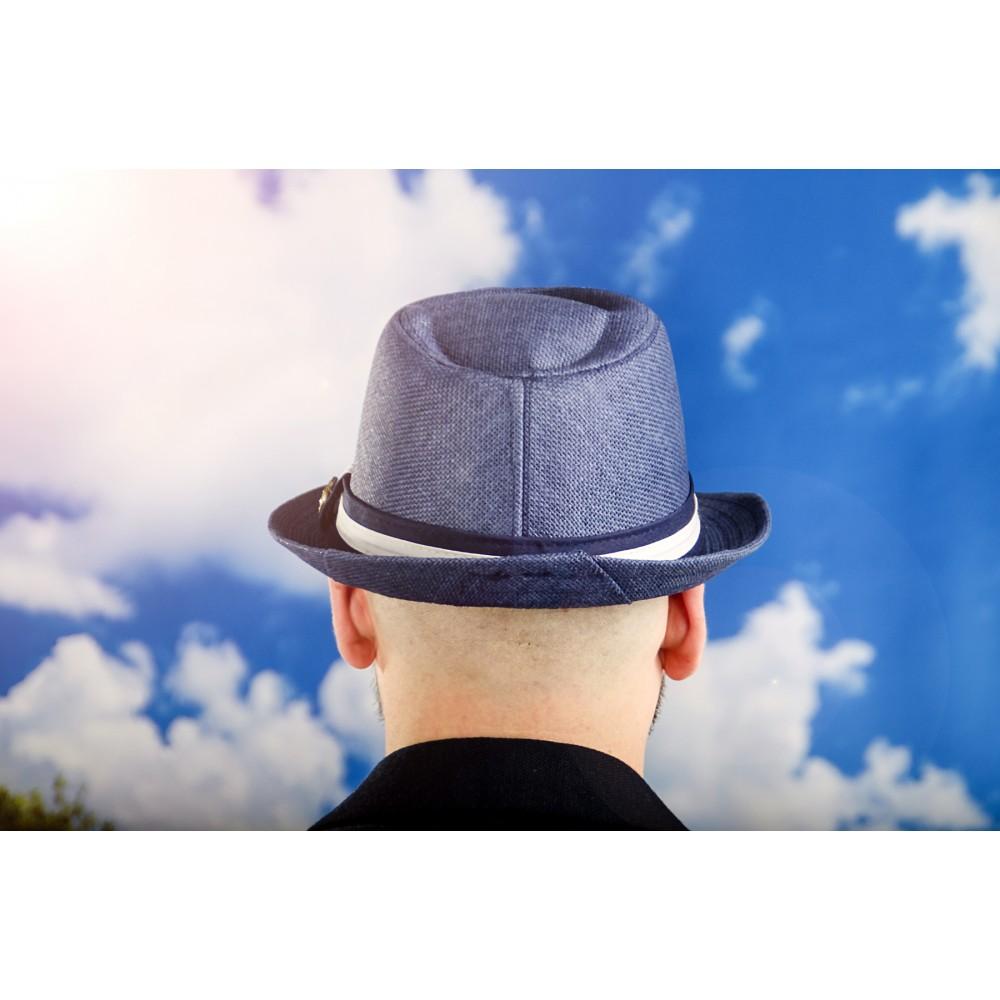 Мъжко Бомбе в Синьо с Емблема Котва
