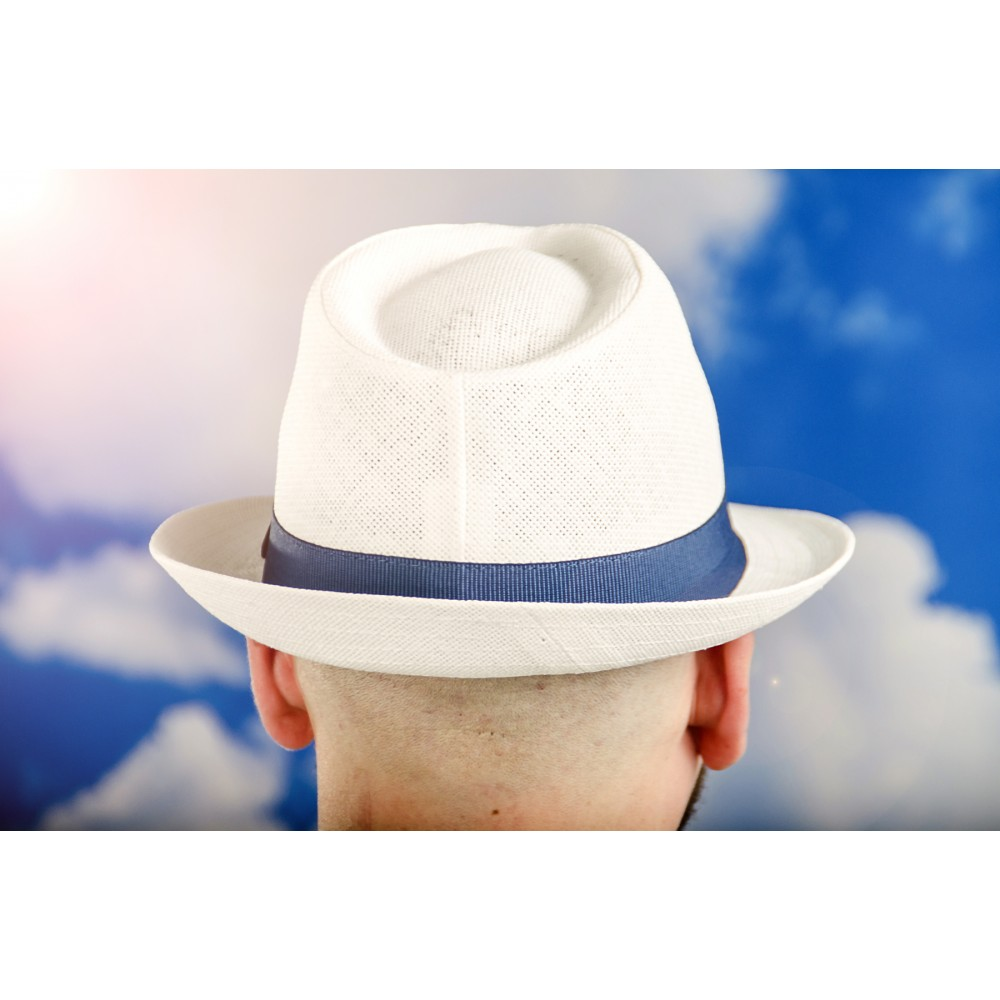 Мъжко Бомбе в Бяло със Синя Лента