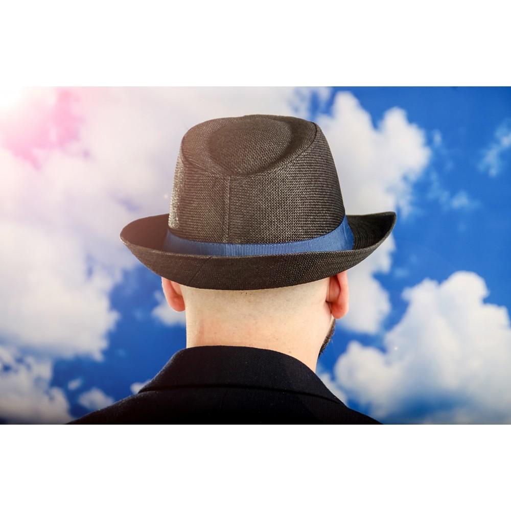 Мъжко Бомбе в Черно със Синя Лента