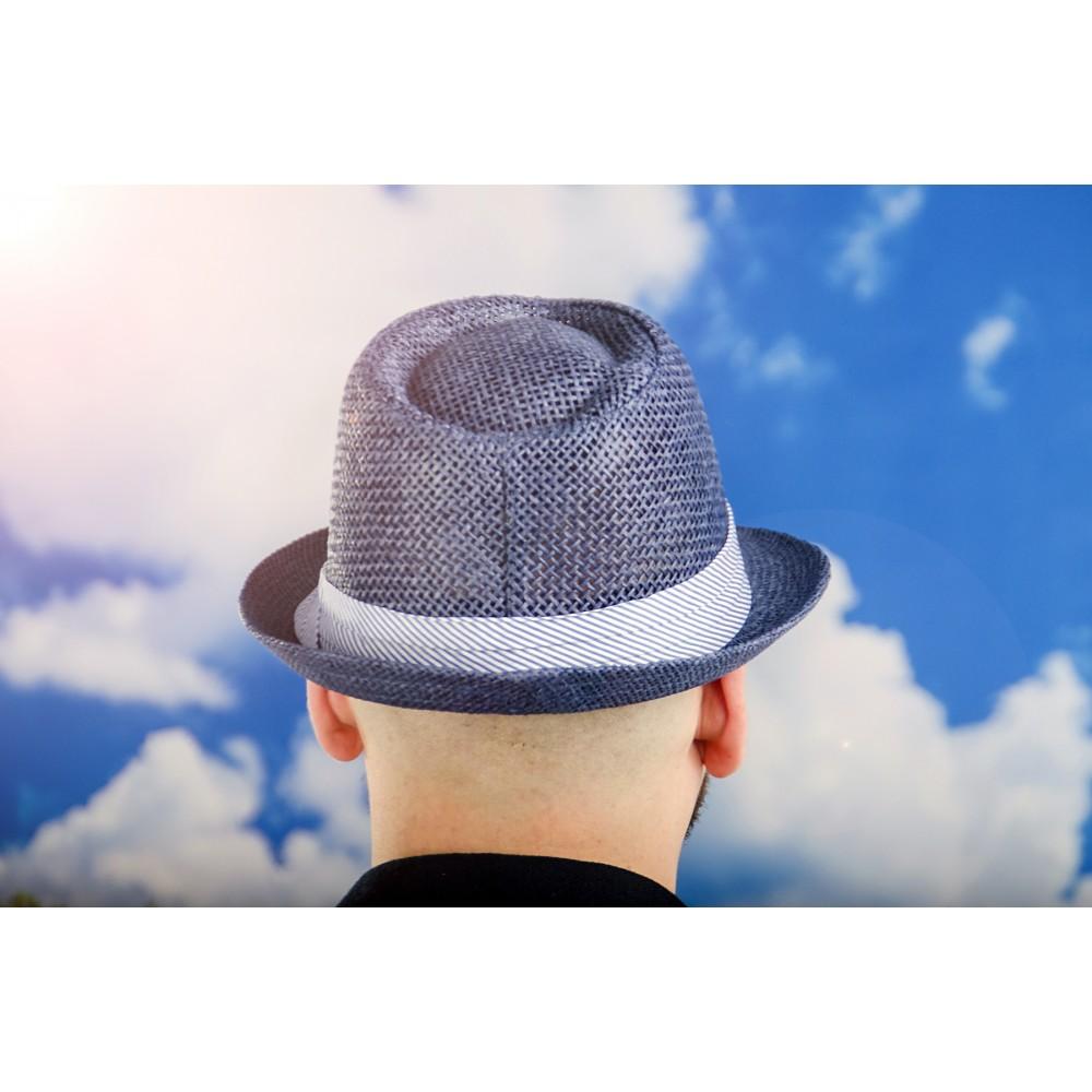 Мъжко Бомбе в Синьо със Лента в Бяло и Синьо