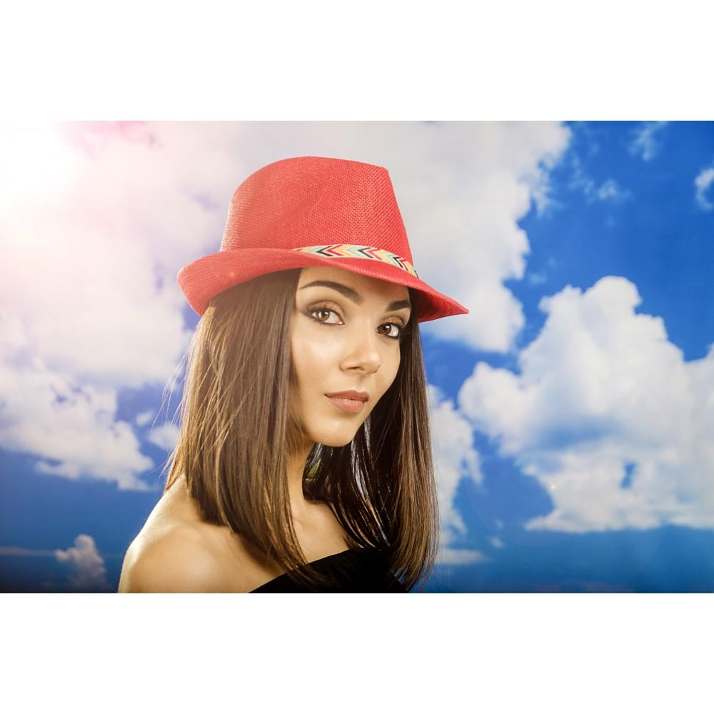Дамско Бомбе в Червено с Шарена Лента