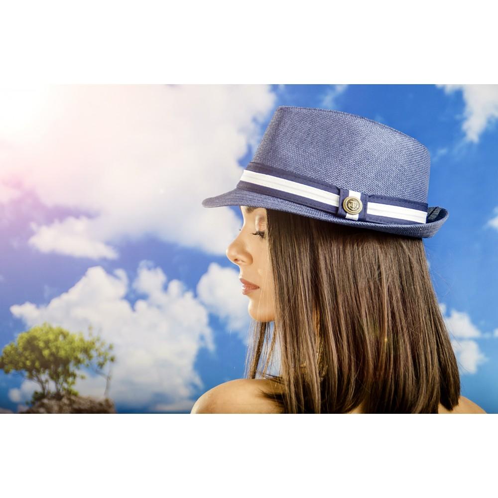 Дамско Бомбе в Синьо с Емблема Котва