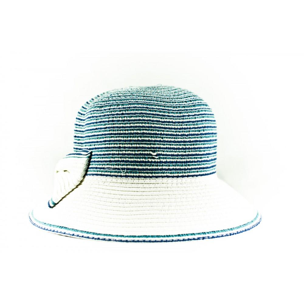 Лятна Дамска Капелка В Синьо И Бяло