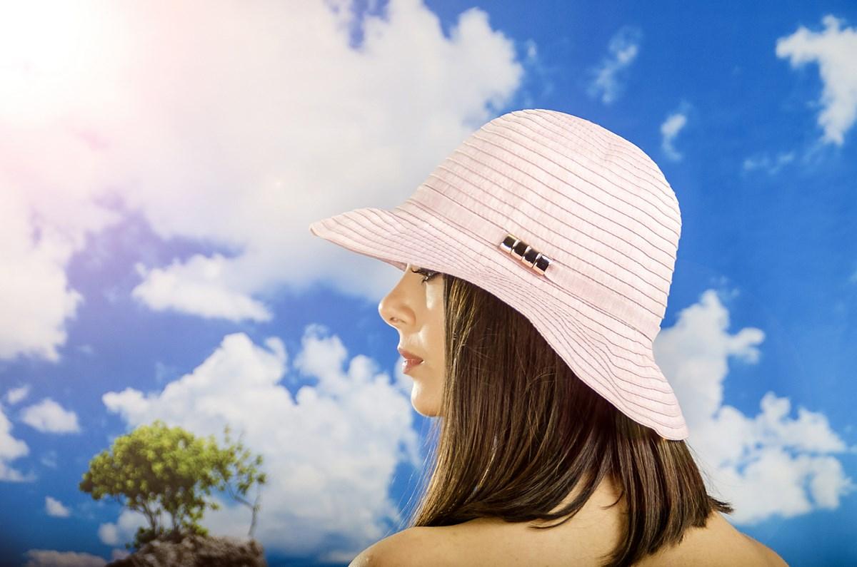 Дамска Лятна Шапка в Цвят Розов