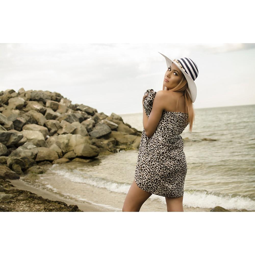 Плажен Шал в Леопардов Принт