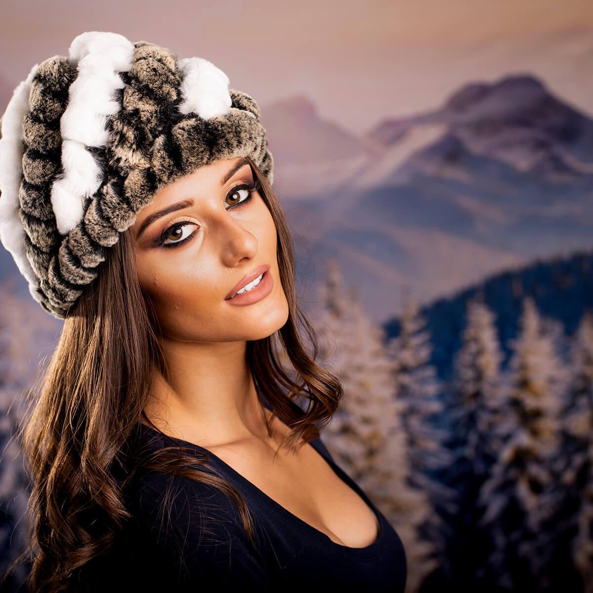Дамска Зимна Шапка Естествен Косъм