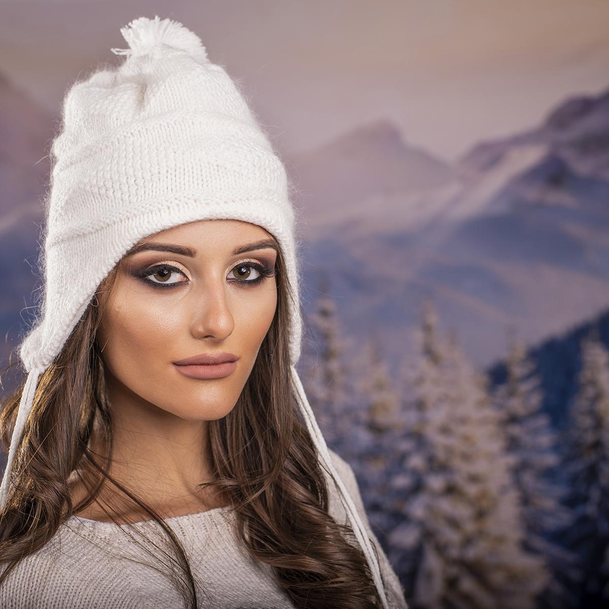 Дамска Ушанка Ангора в Бяло