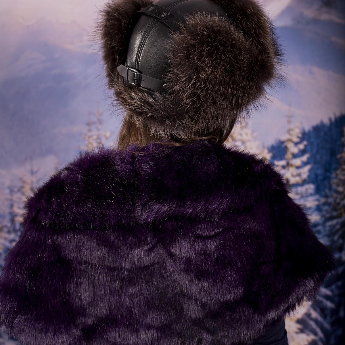 Зимна Дамска Яка от Еко Пух