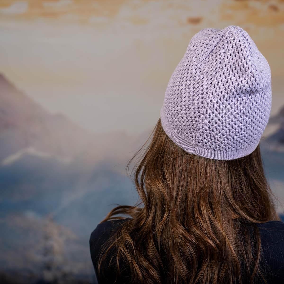 Лилава Дамска шапка