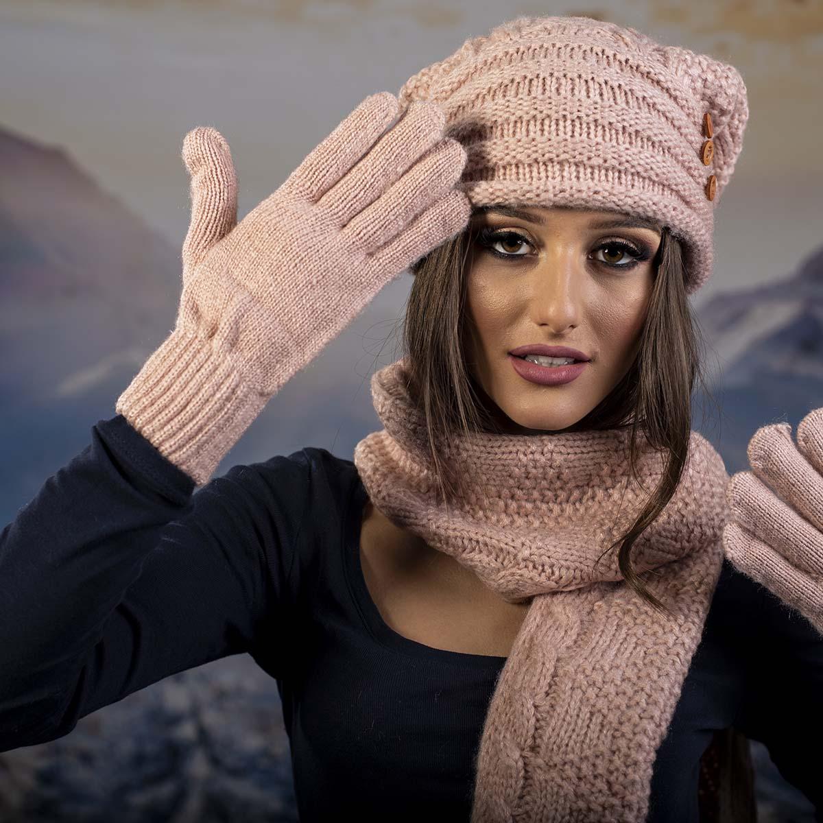Дамски Зимен Розов комплект
