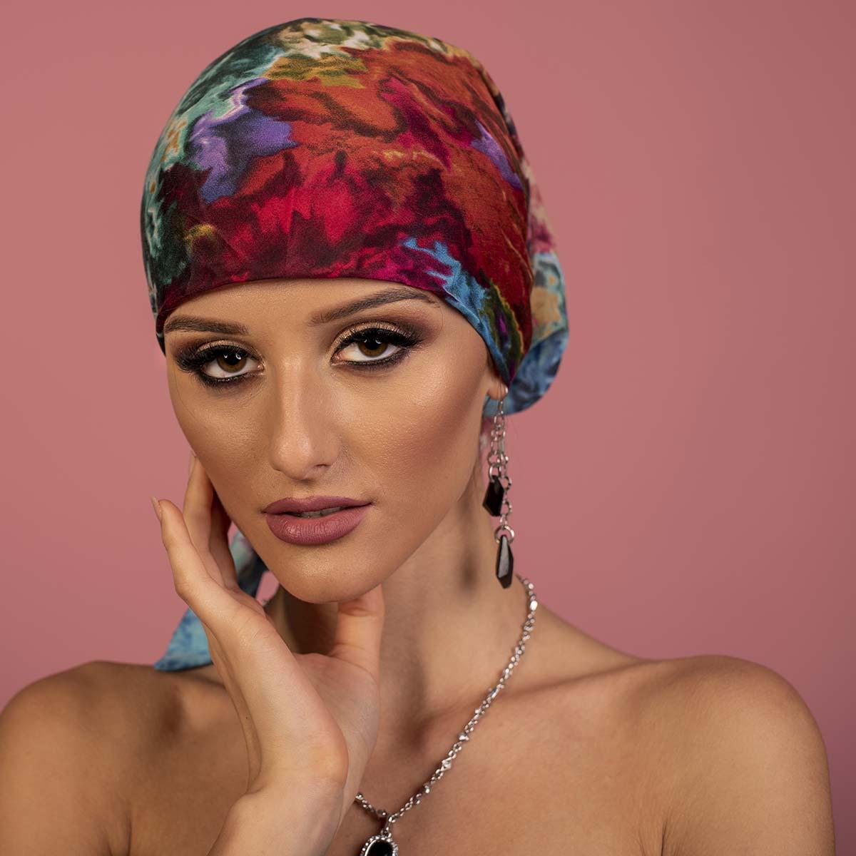 Дамски Тюрбан в Ярки Цветове