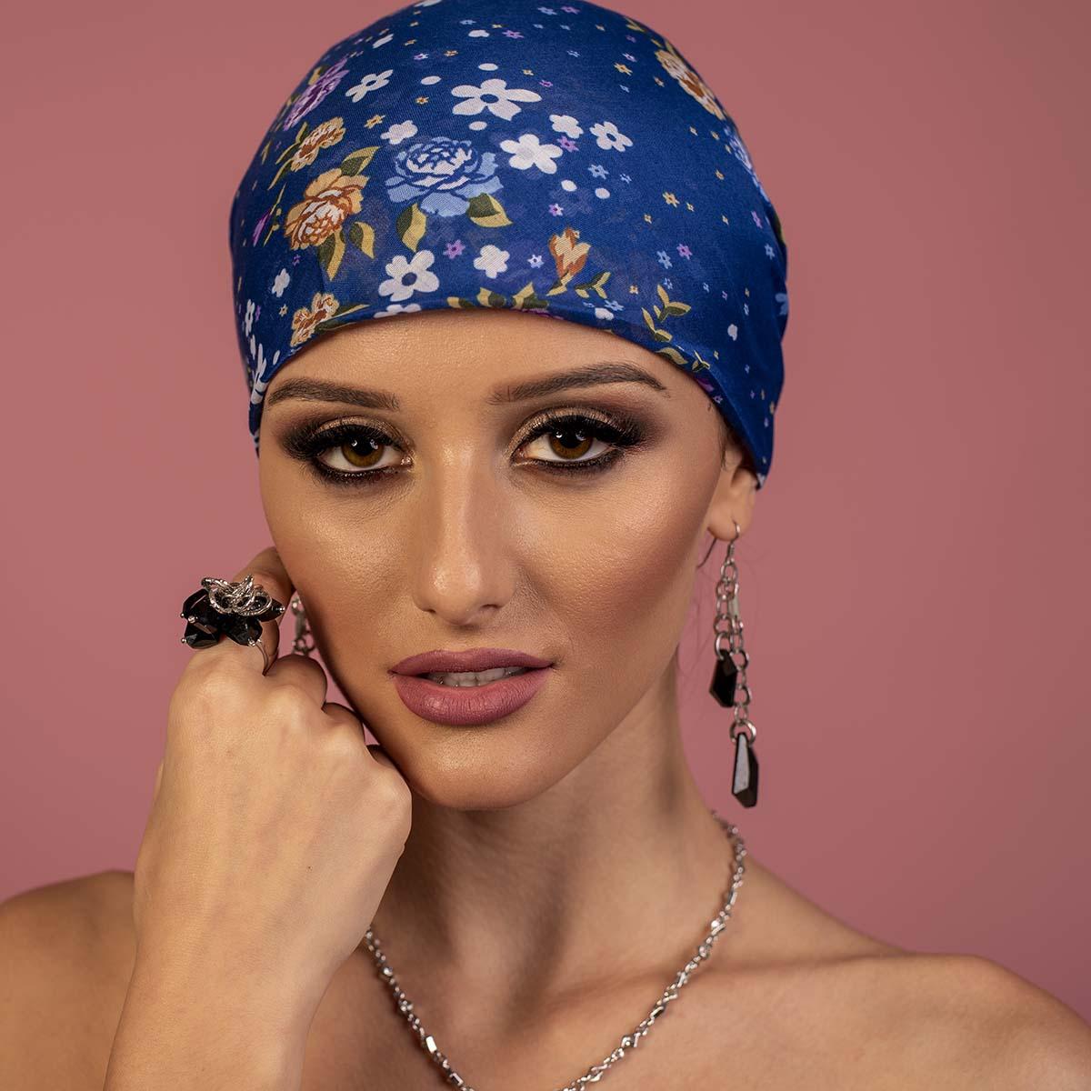 Дамски Тюрбан в Синьо