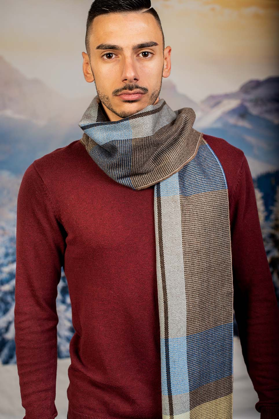Мъжки Зимен шал