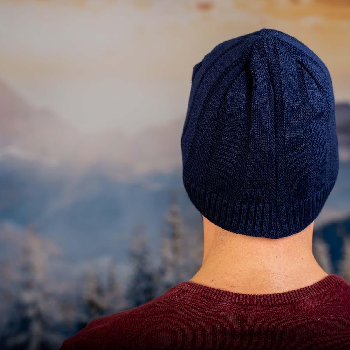 Тъмно синя Мъжка Шапка