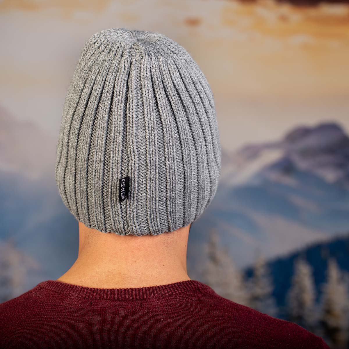 Светло Сива Мъжка шапка