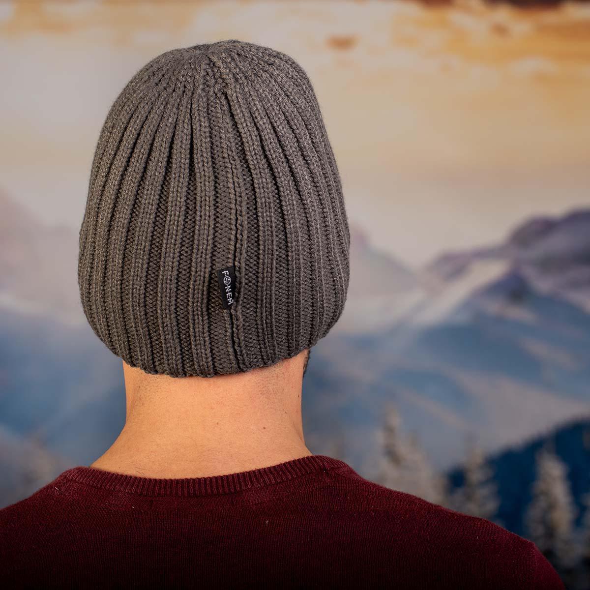 Сива Мъжка шапка