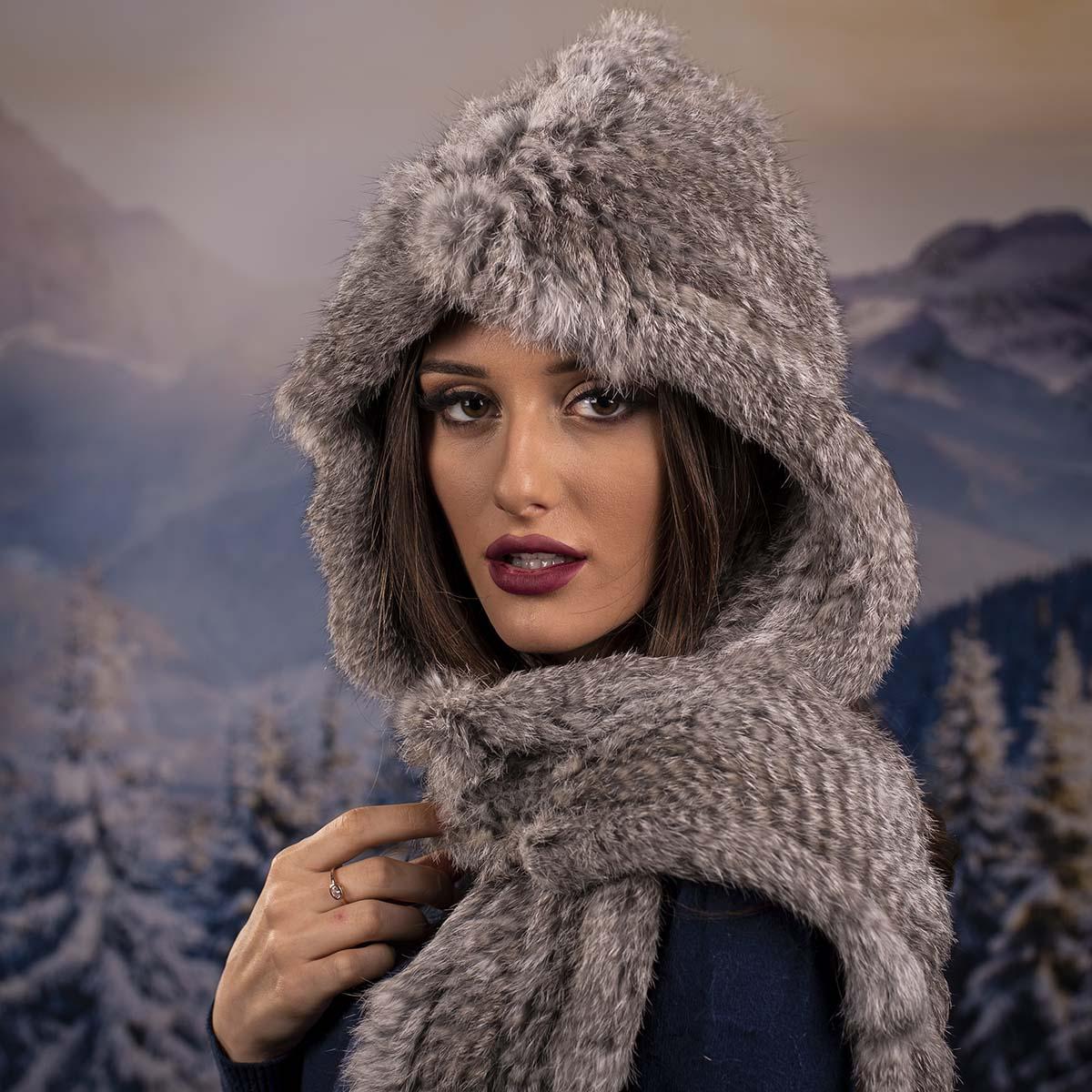 Дамска Зимна Шапка от Заек