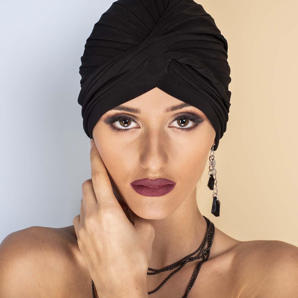Дамски Тюрбан в Черно
