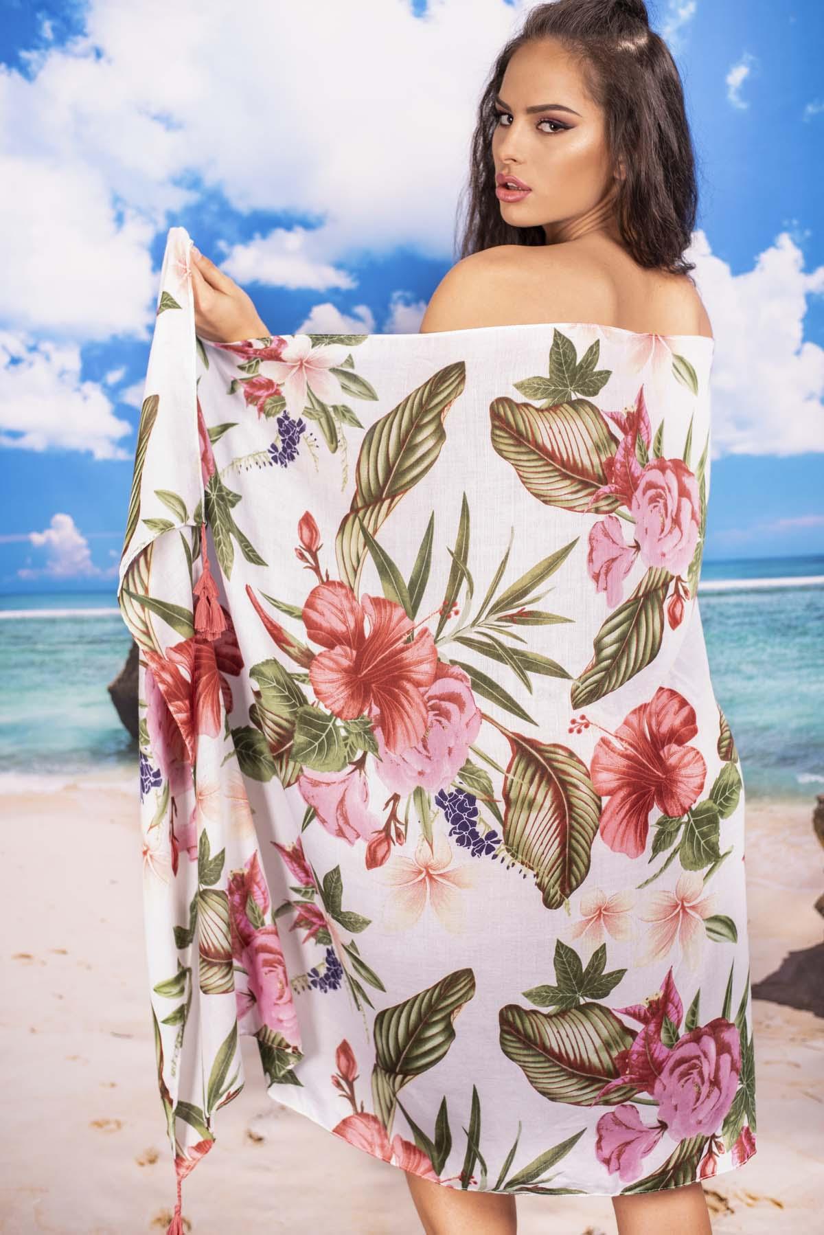 Парео с Тропически Цветя