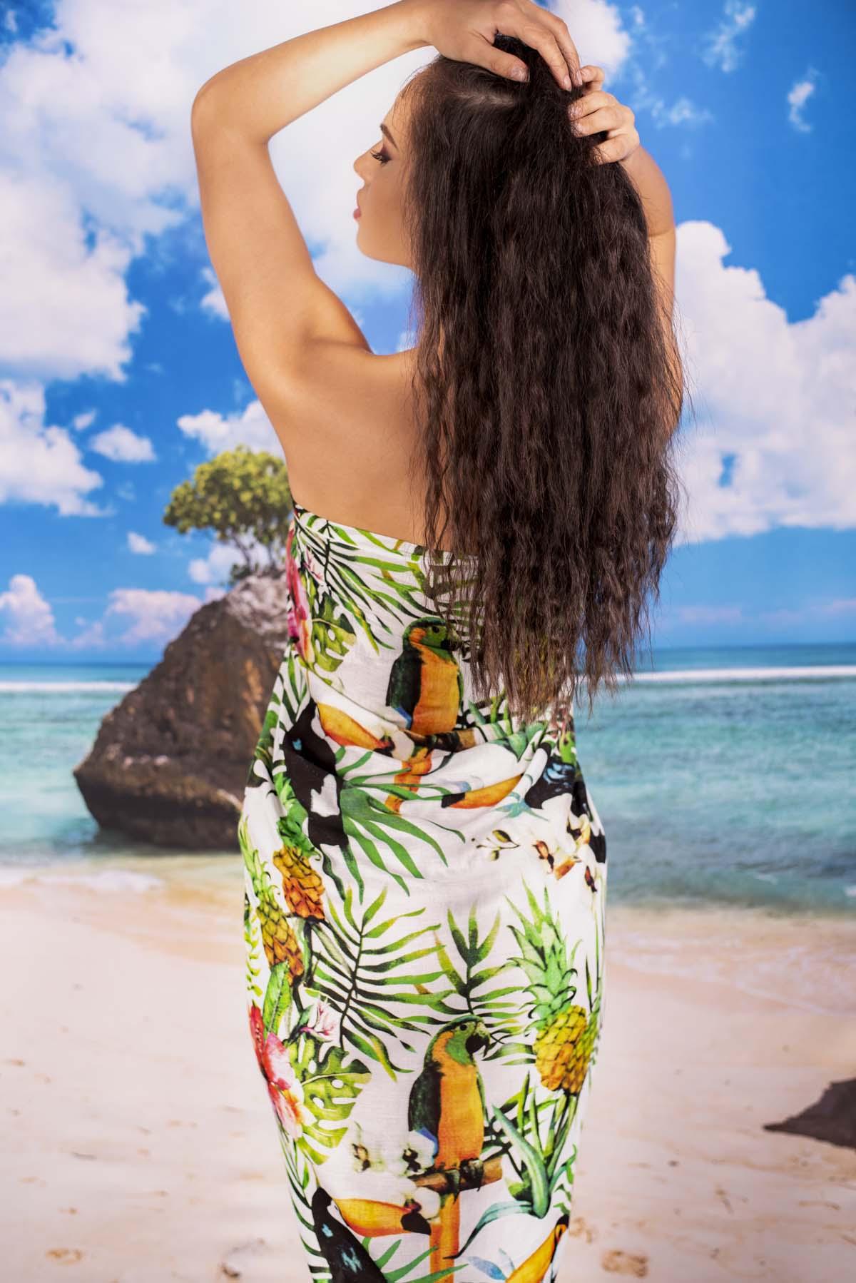 Плажен шал с Какаду