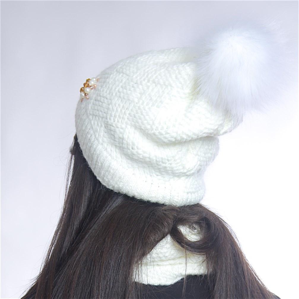 Дамски зимен комплект бял