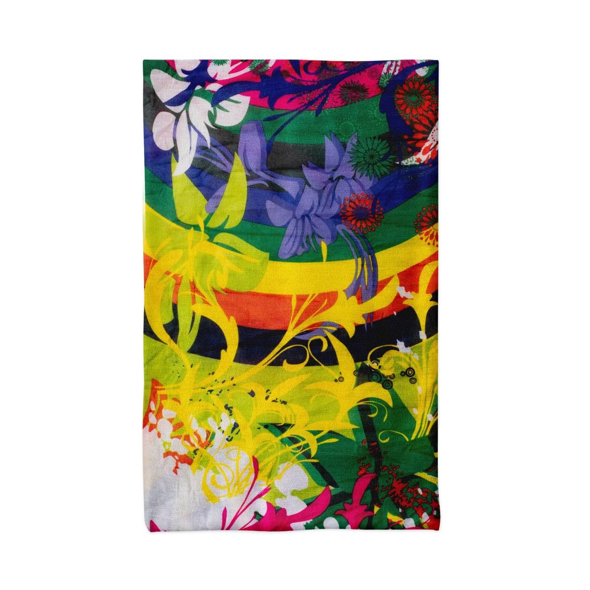 Многофункционална шарена кърпа за глава на цветя