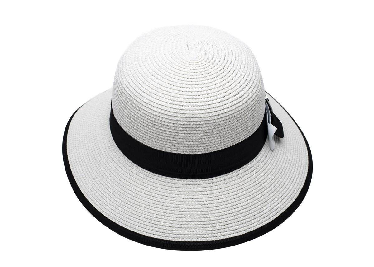 Дамска Капела Бяла с черна лента