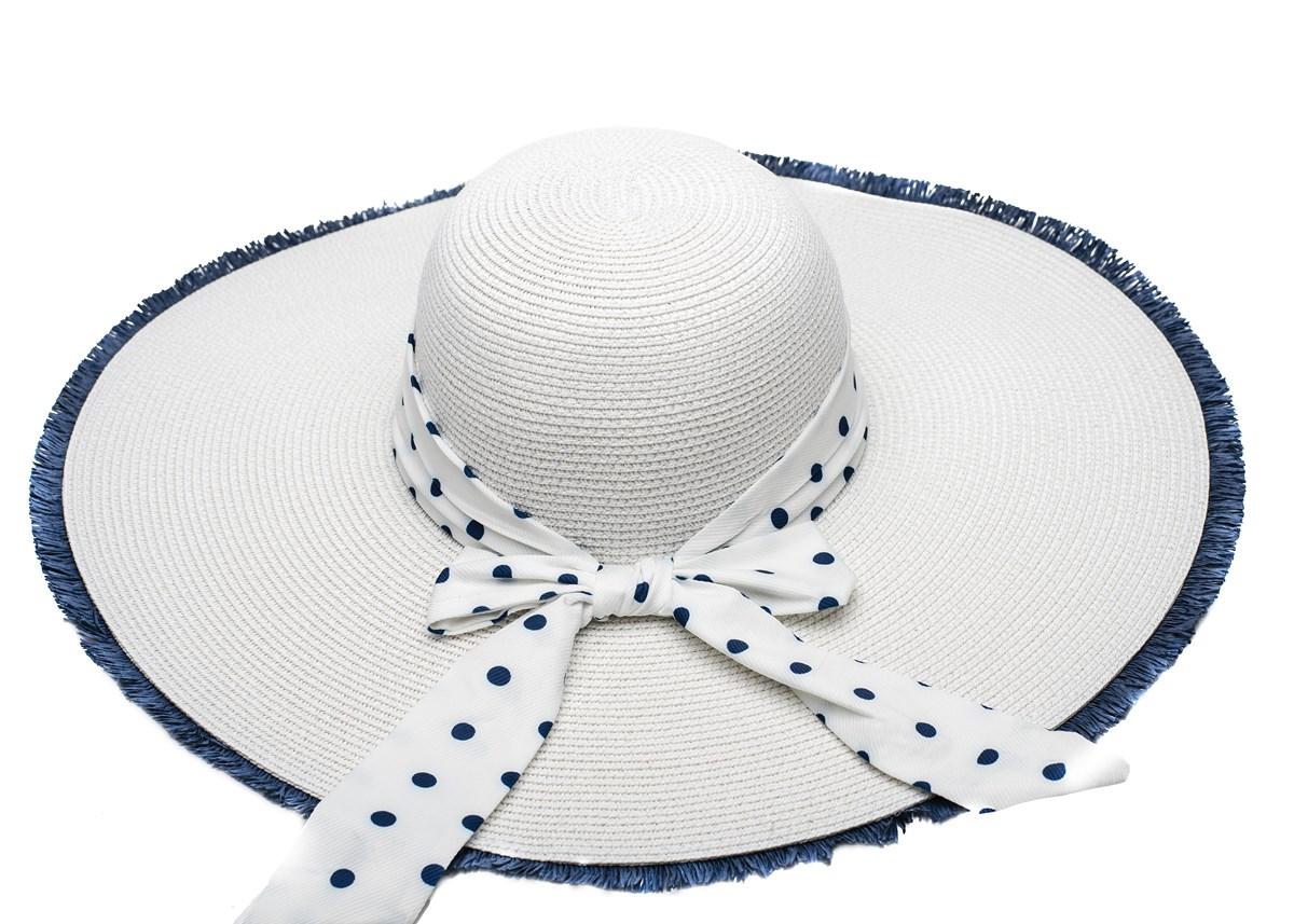 Дамска Капела Бяла сини точки