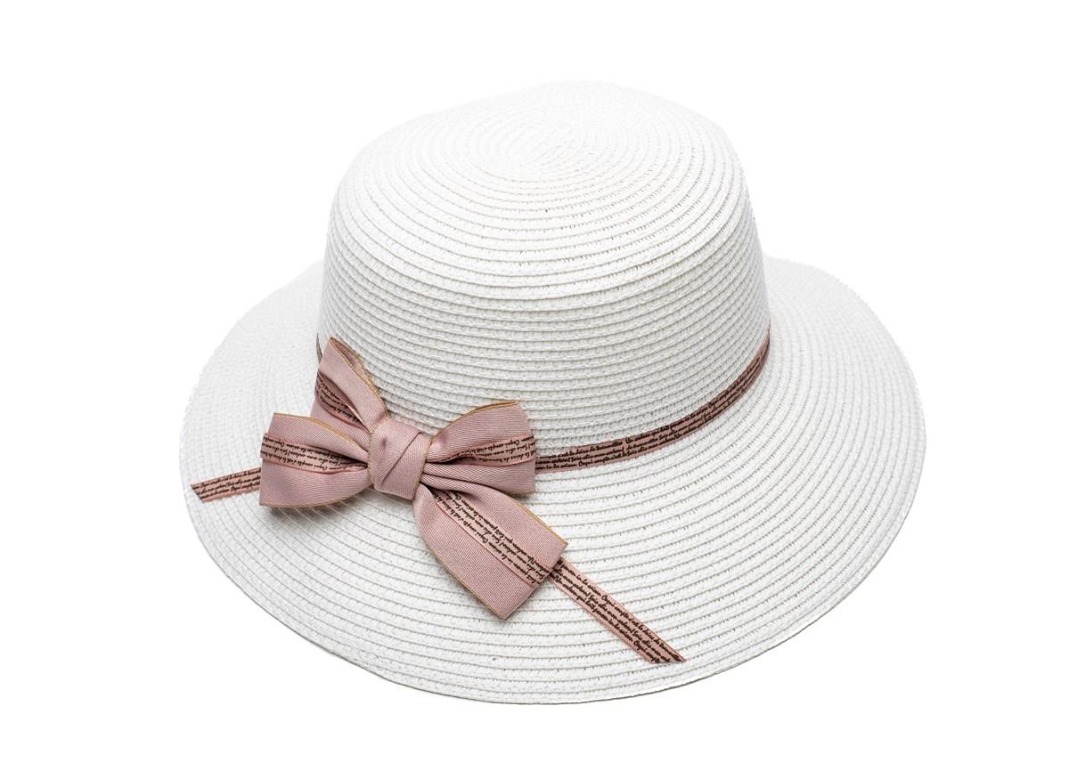 Бяла Дамска Капела с панделка в Розово