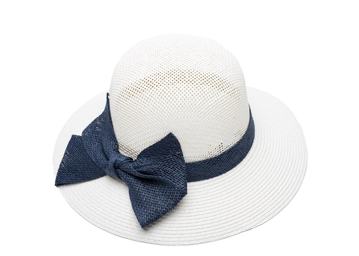 Дамска Бяла Капела със Синя пандела