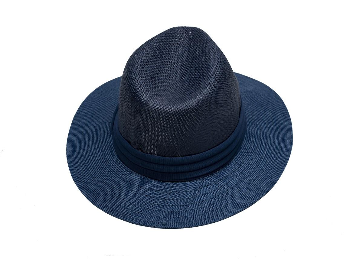 Мъжка Лятна Шапка Синя със Синя лента