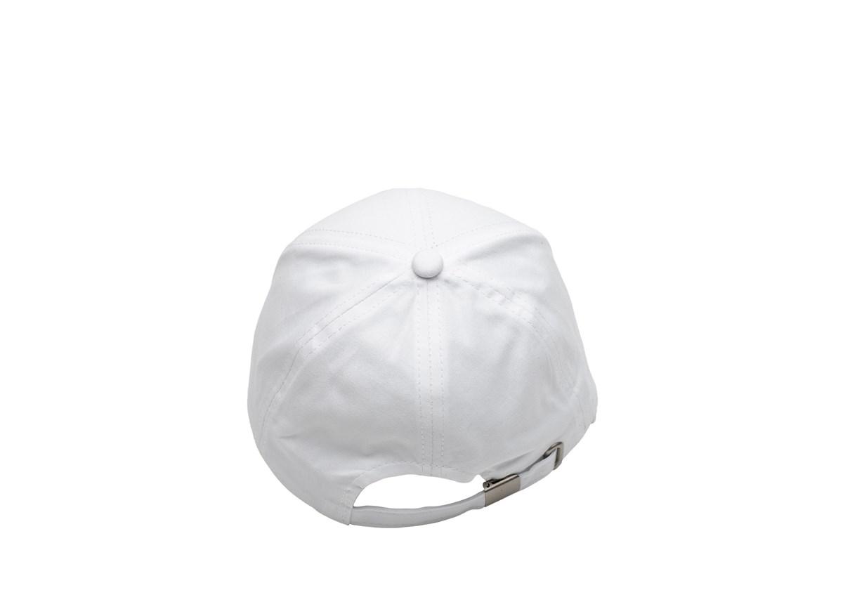 Бяла Капитанска шапка със Синя козирка