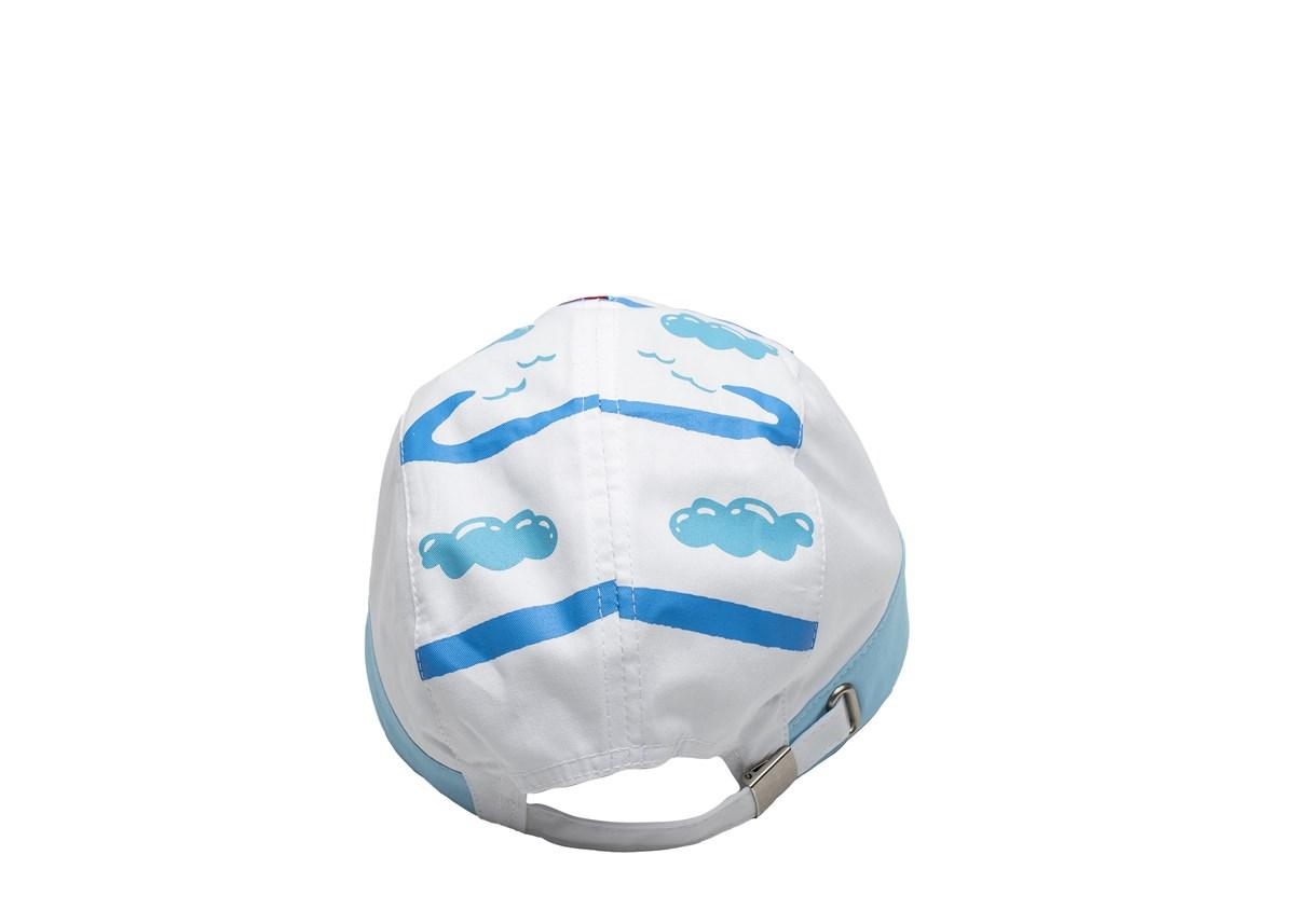 Светло синя Детска шапка с козирка с корабче
