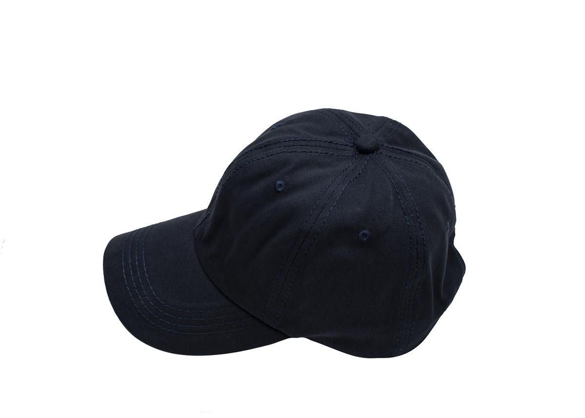 Тъмно синя шапка с козирка