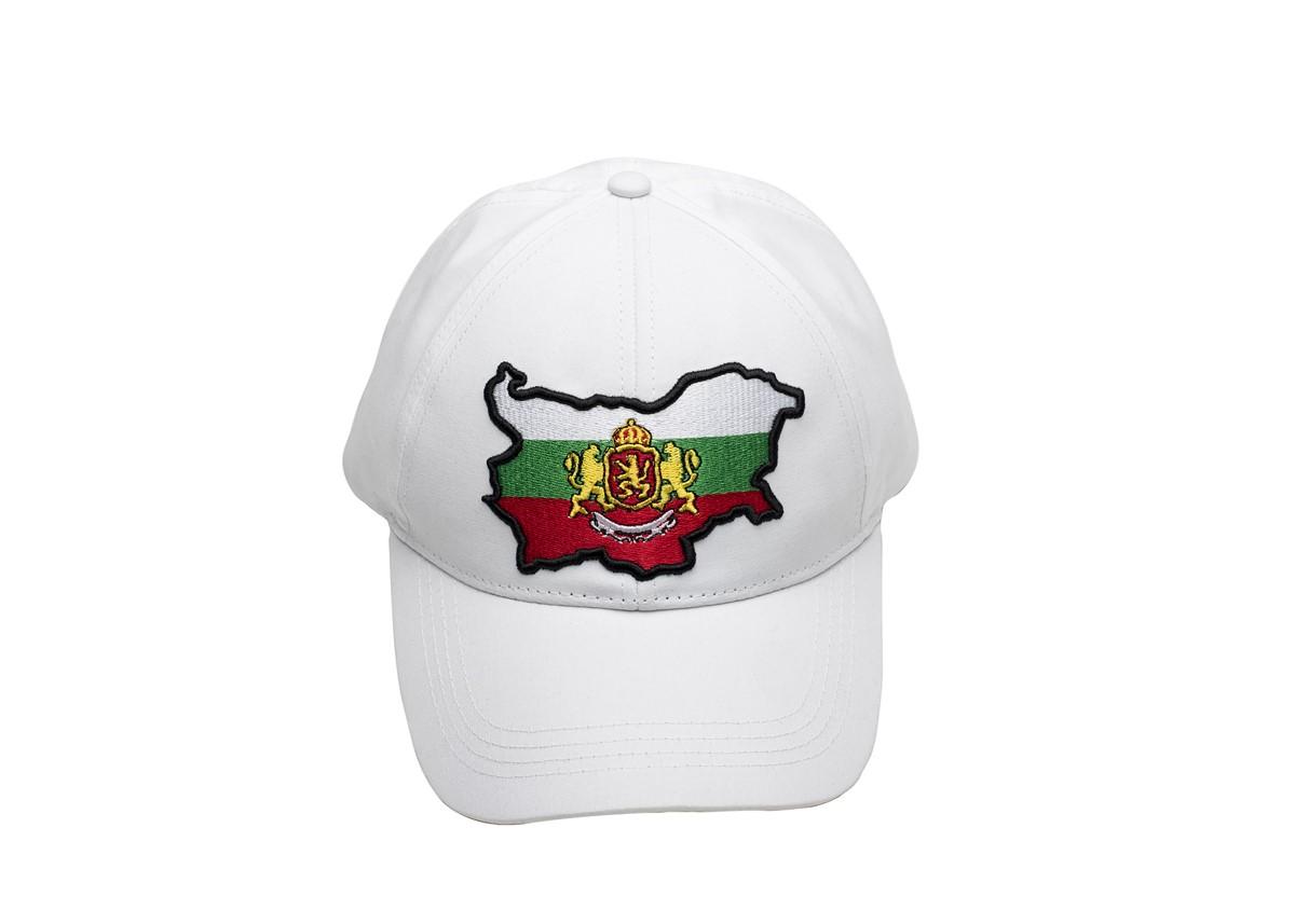 Шапка Бяла с Козирка България Герб