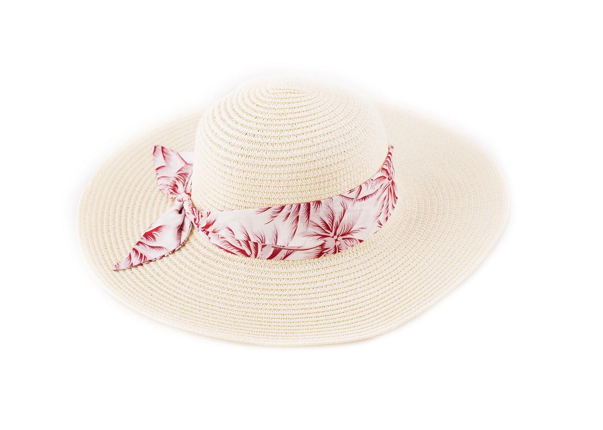 Бежова Капела с лента червени палми