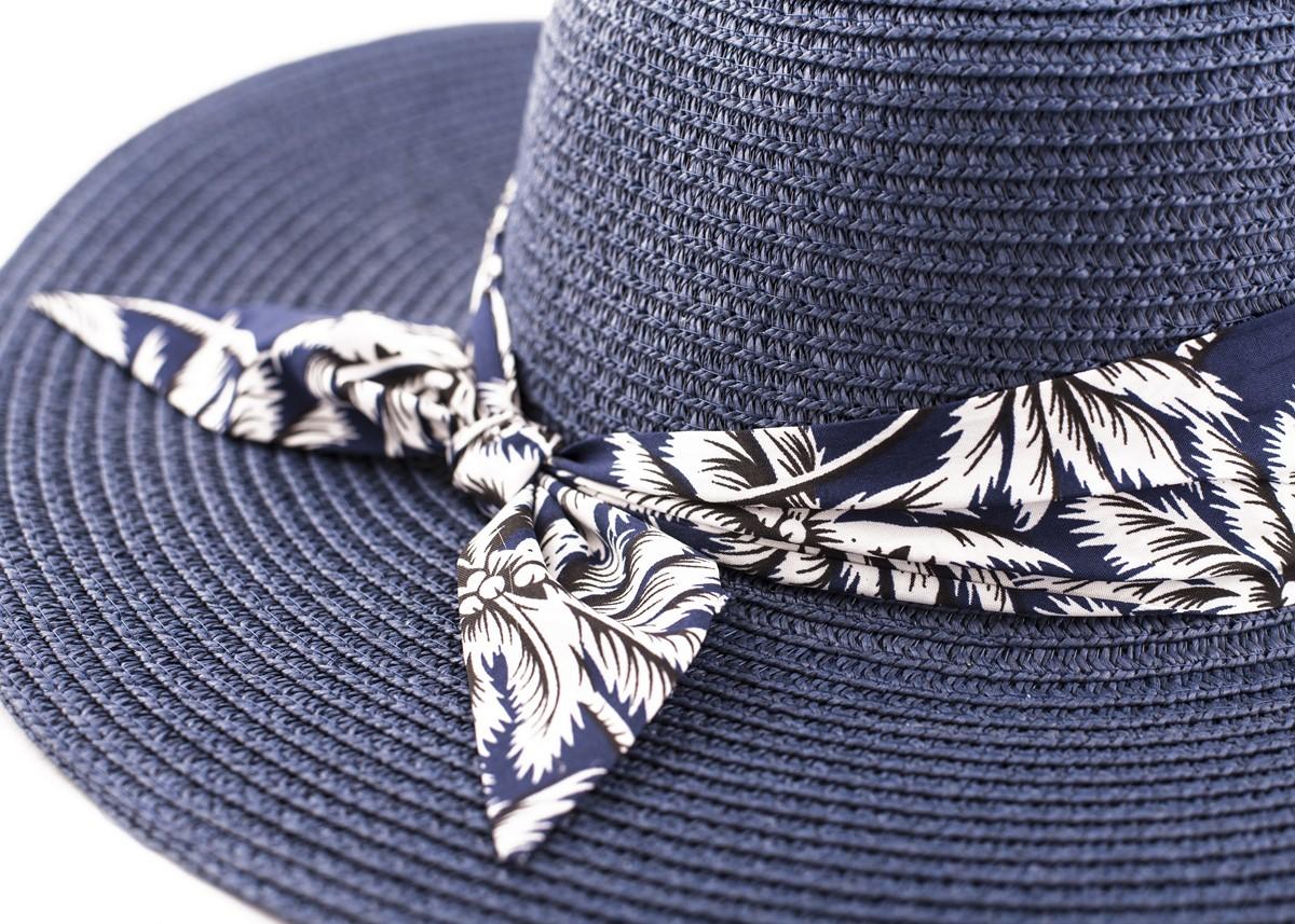 Синя Капела с лента тъмносини палми