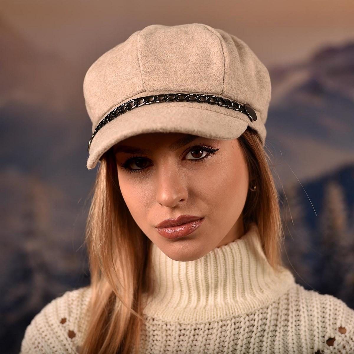 Дамска Зимна Барета Светлобежова