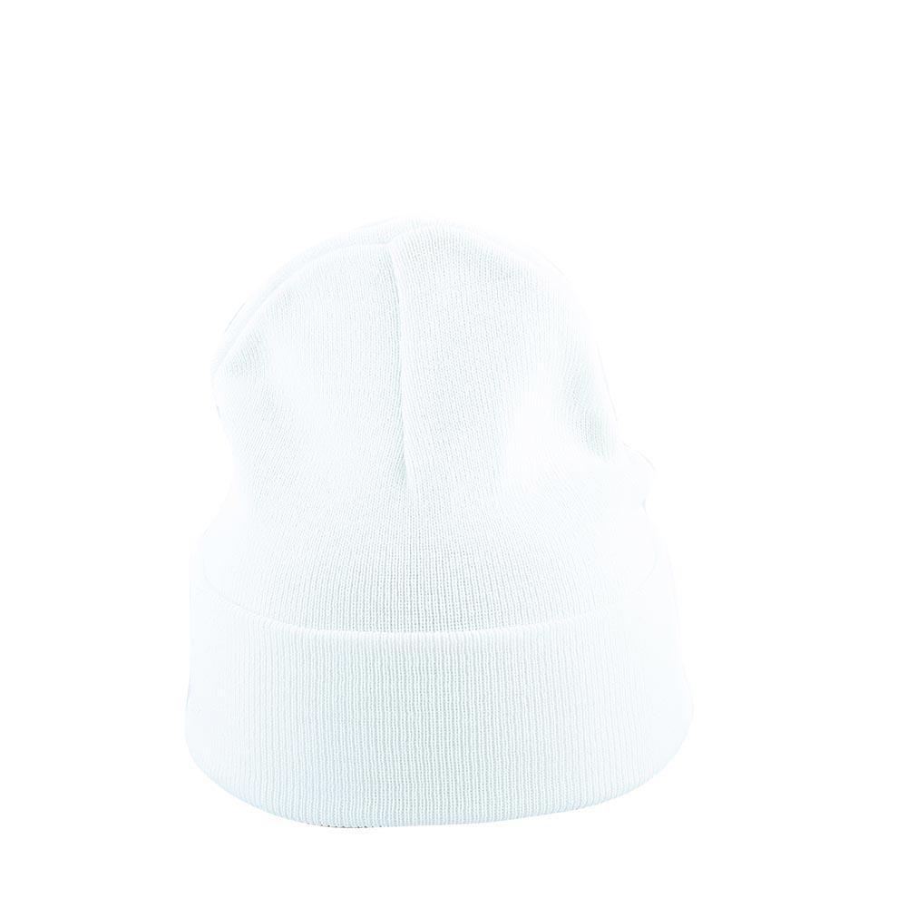 Бяла Изчистена Плетена Шапка