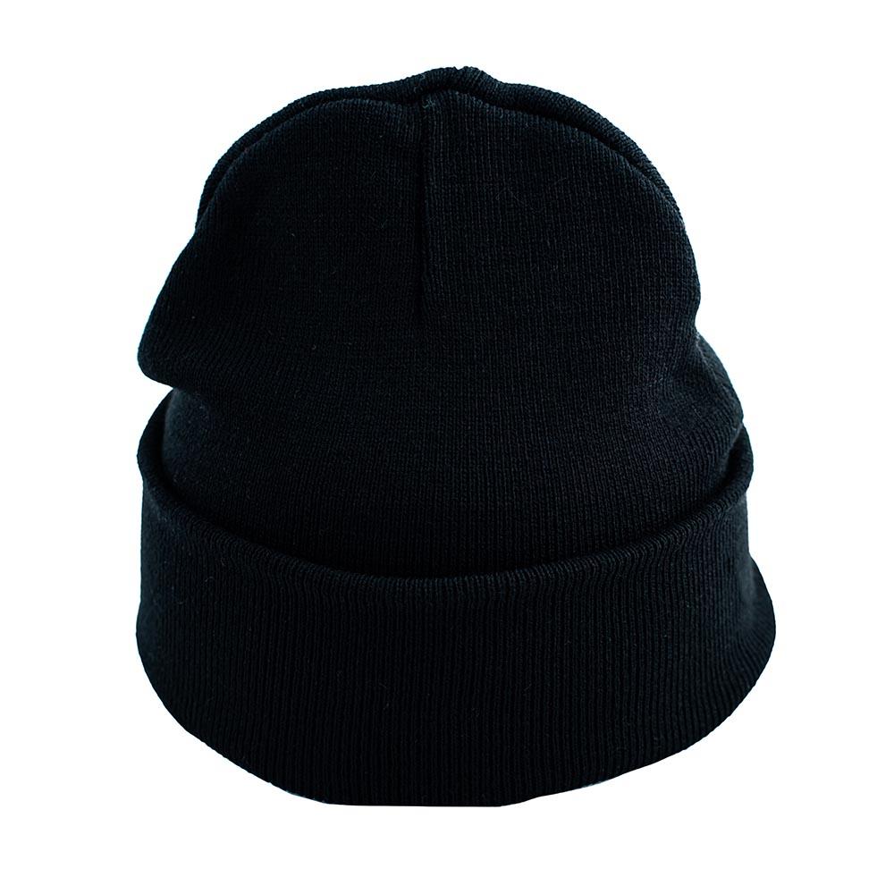 Черна Изчистена Плетена Шапка