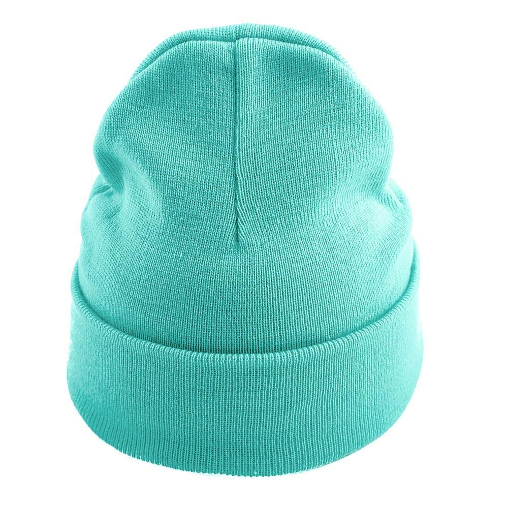 Зелена Изчистена Плетена Шапка