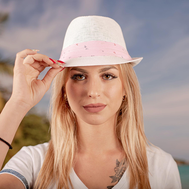 Дамско Бомбе с розова лента на ситни котвички